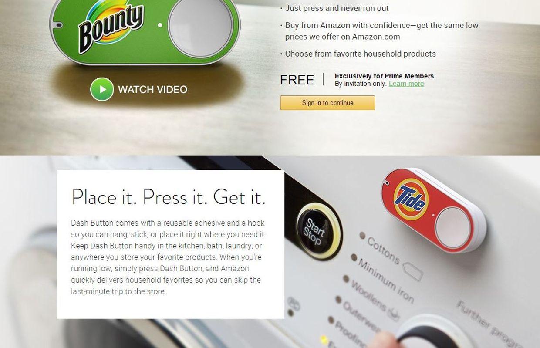 dash button pour faire ses courses en un seul clic la nouveaut d 39 amazon. Black Bedroom Furniture Sets. Home Design Ideas