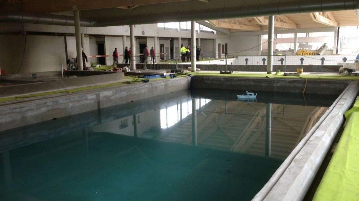 La nouvelle piscine de braine le comte bient t pr te for Construction piscine fontenay le comte
