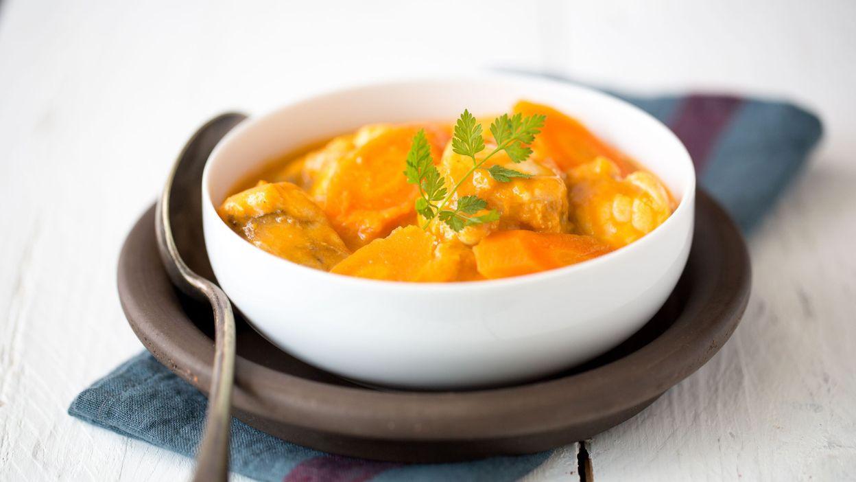 Recette curry de lotte la banane - Lotte a l armoricaine recette cuisine ...
