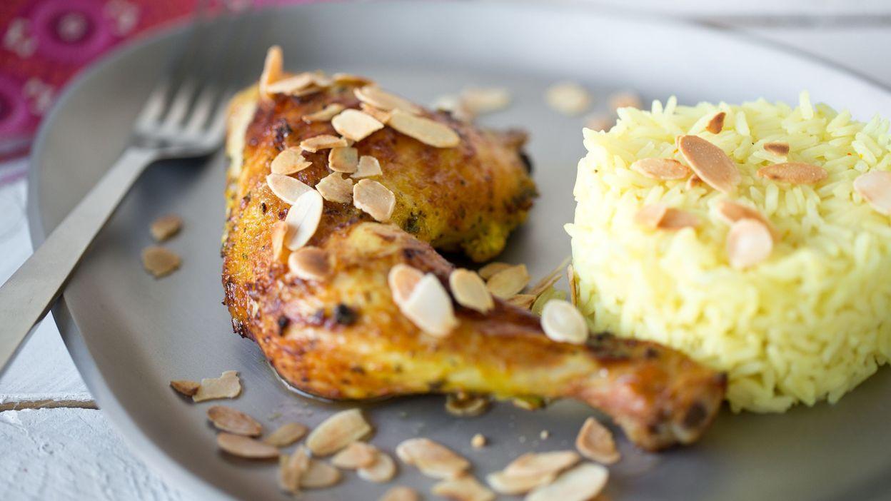 recette tandoori de poulet aux amandes. Black Bedroom Furniture Sets. Home Design Ideas