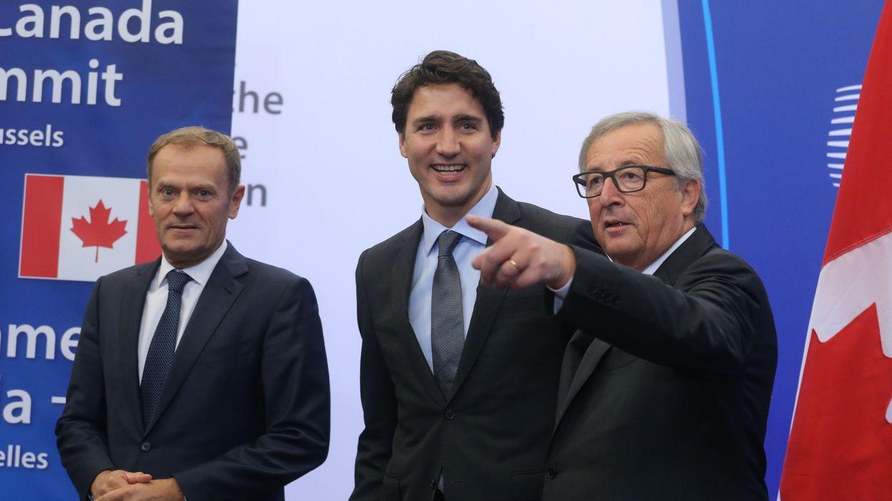 CETA : «Bien joué», se réjouit Justin Trudeau à son arrivée au sommet UE-Canada