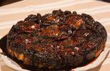 Tatin nectarine et caramel à la lavande et poêlée de melon au romarin et tuiles au thym