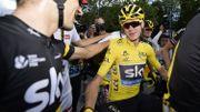 Chris Froome en jaune lundi au Critérium d'Alost