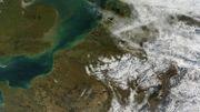 La neige en Belgique vue depuis l'espace par la NASA