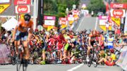 Grosse chute au Tour de Wallonie