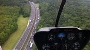 L'hélicoptère RTBF Mobilinfo à vos côtés, cet été, sur la route des vacances