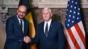 """Charles Michel rencontre le vice-président américain: """"On a eu un échange très intense"""""""