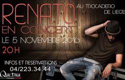 Concours: Assistez au concert de Renato au Trocadero !