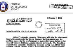 La CIA met en ligne, sur son site internet, 12 millions de pages de documents secrets déclassifiés