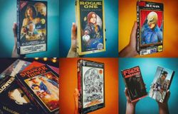 Total vintage: il ressort ses vieilles VHS usées de films récents