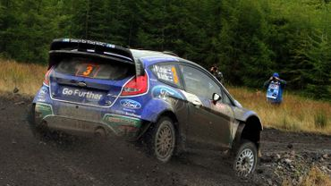 La Ford Fiesta WRC de Jari-Matti Latvala
