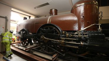 """Pays de Waes"", la plus vieille locomotive de Belgique au Train World"