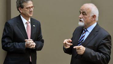 Jan Peumans (N-VA) et l'ambassadeur des Etats-Unis, Howard Gutman