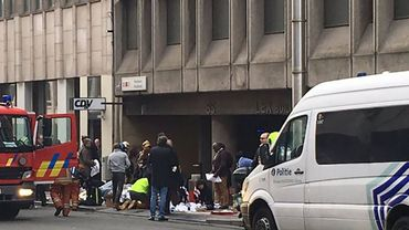 Les premières minutes après l'attentat à la station de métro Maelbeek.