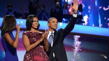 Malia, Michelle et Barack Obama