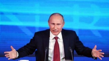 Le président russe Vladimir Poutine lors d'une conférence de presse, le 20 décembre 2012 à Moscou