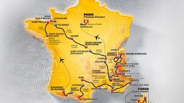 La carte du Tour 2013