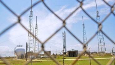 La fusée Falcon 9 de la société américaine SpaceX  sur la base aérienne de Cap Canaveral en Floride le 18 mai 2012