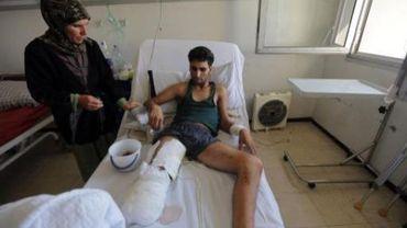 Un soldat syrien blessé à l'hôpital militaire de Damas