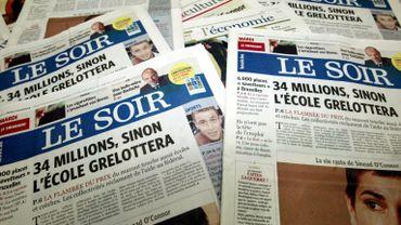 Le groupe Rossel- dont le quotidein Le Soir fait partie - grelottera ces prochains mois...