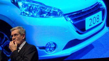Le PDG de PSA Peugeot Citroën Philippe Varin