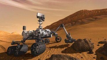 Image de synthèse du robot Curiosity conçu par la Nasa
