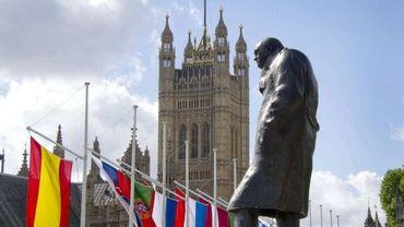 Statue de Winston Churchill à Londres