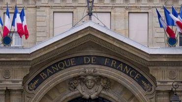 Vue de la façade de la Banque de France à Paris