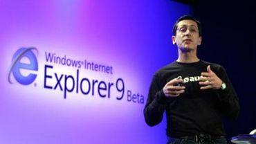 Dean Hachamovitch, vice président d'Internet Explorer, lors de la présentation d'Internet Explorer Beta à San Fransisco en 2010.
