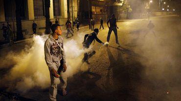Manifestation dans les rues du Caire en mars