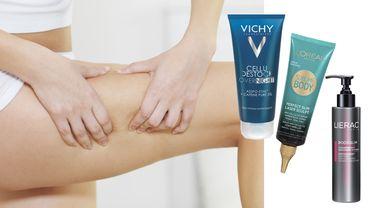 La technique de massage du palpé/roulé couplé à ces soins anti-cellulite permet de drainer les couches supérieures de la peau afin d'éliminer les capitons. Vichy : 31,95€ / L'Oréal : 14,99€ / Lierac : 32,90€.