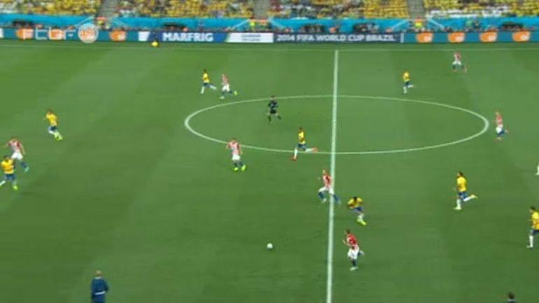 r u00e9sum u00e9 du match br u00e9sil-croatie  06  2014