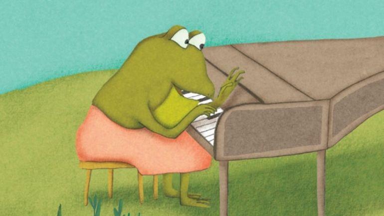 Gonflée, la grenouille