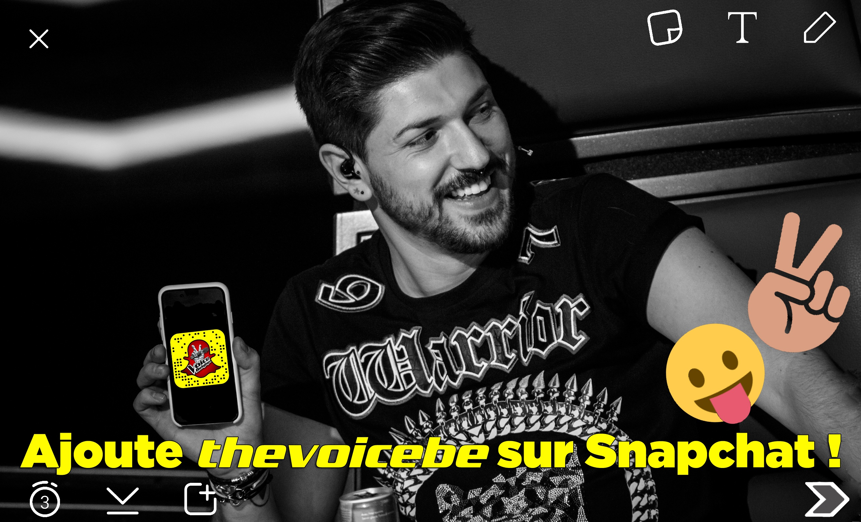 Ajoute The Voice Belgique sur Snapchat