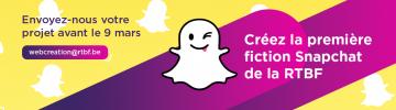 Créez la première fiction Snapchat de la RTBF !