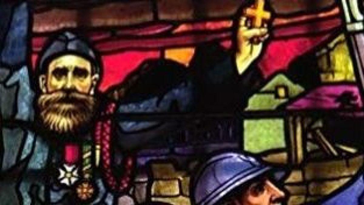 Sur des vitraux d'églises réalisés après 1918, des anges couronnent des soldats, des aumôniers soutiennent des combattants.