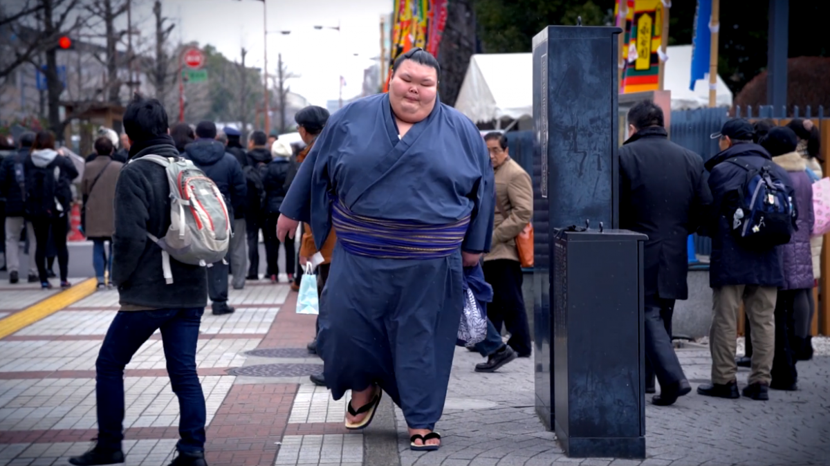 Arrival of the Sumo Wrestlers