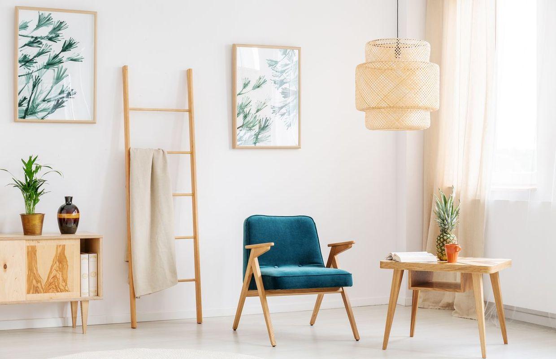 6 mani res d 39 utiliser l 39 chelle en bois dans votre int rieur. Black Bedroom Furniture Sets. Home Design Ideas