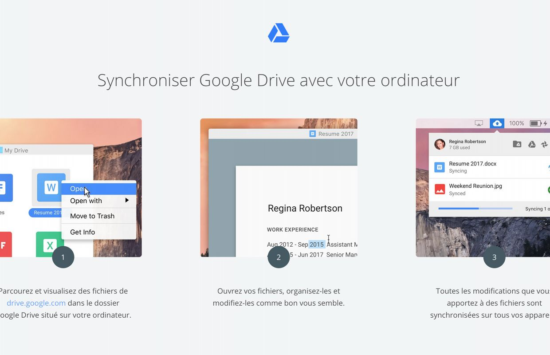 Google Drive pour Mac et PC est abandonné