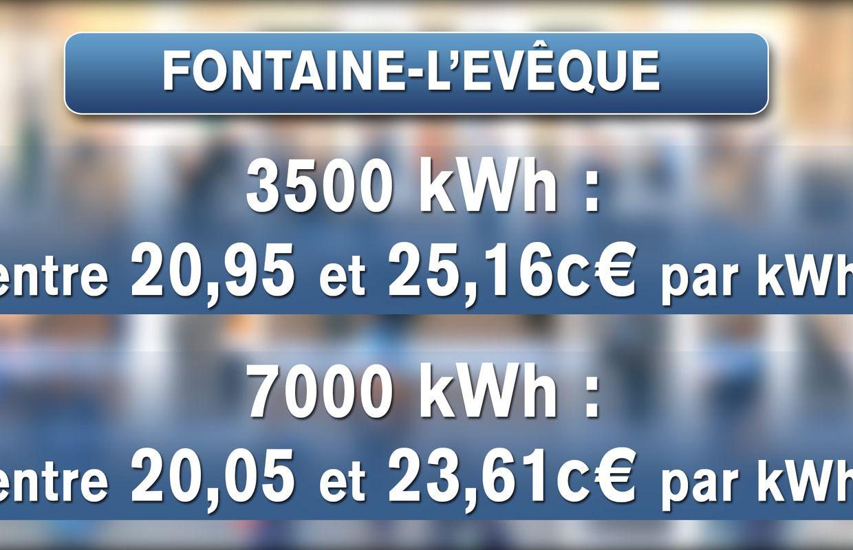 comparatif de facture pour Fontaine-L'Evêque