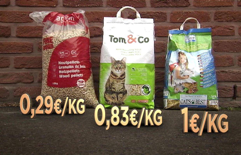 Difference Poele A Granule Et Pellet des pellets de chauffage comme litière pour chat, un vrai