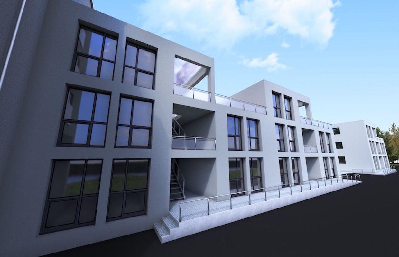 Pont celles 15 appartements construits base de for Immeuble en container
