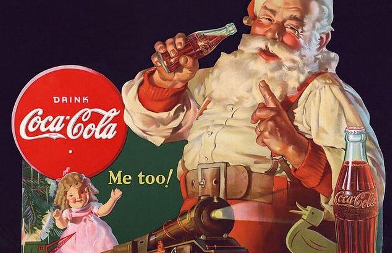 Image Pere Noel Coca Cola.Coca Cola A Fait Rougir Un Pere Vert Noel La Legende Qui