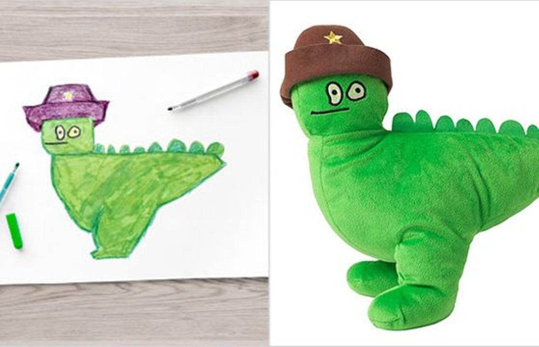 De jolies peluches r alis es partir de dessins d 39 enfants - Peluches a 1 euro ...