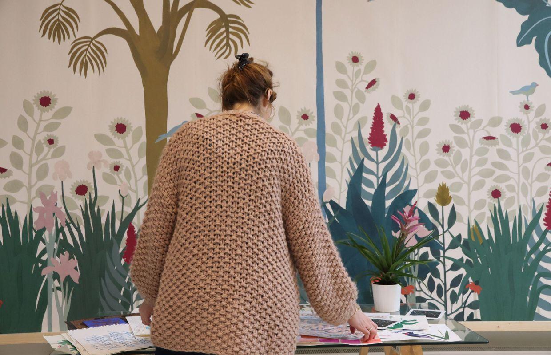 Papier Peint Style Atelier rencontre avec alexia de ville : créatrice de papier peint