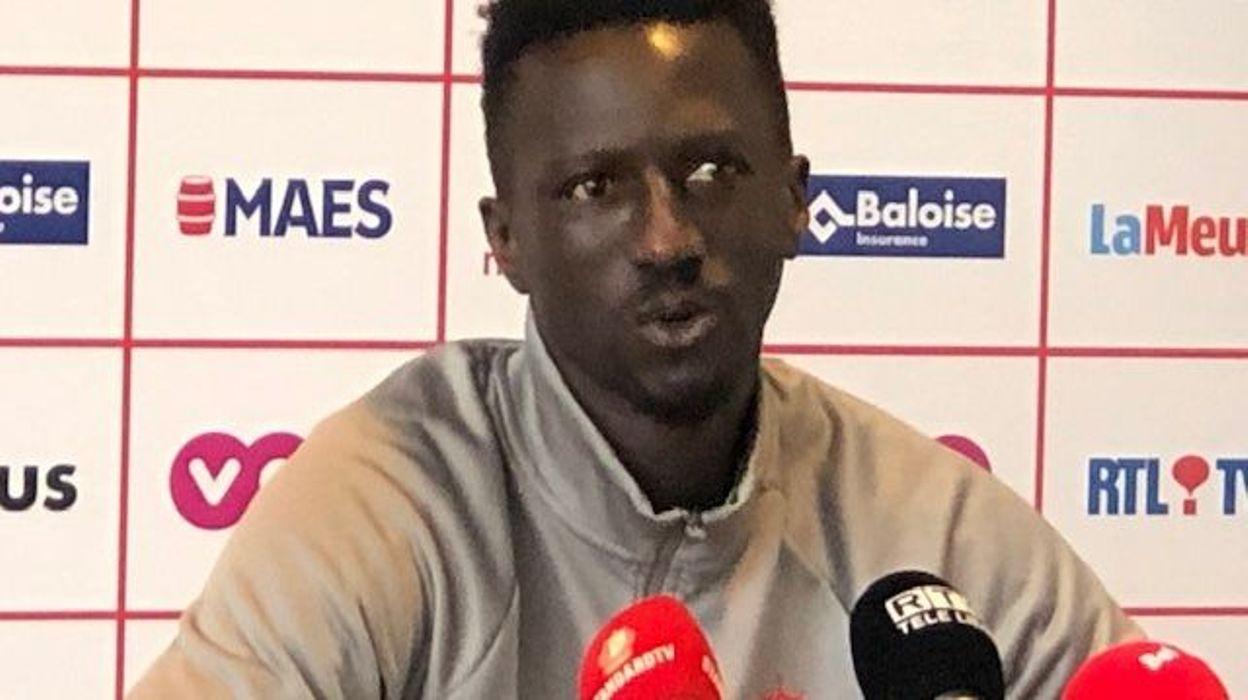 Sport Mbaye Leye avant Eupen-Standard :