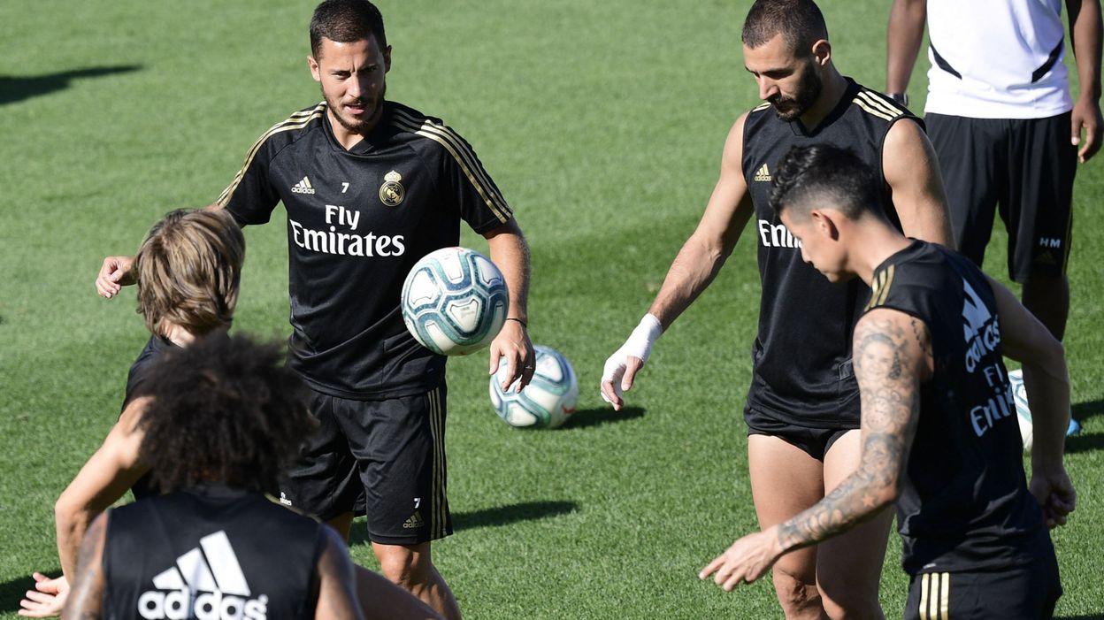 13h56 Eden Hazard reprend l'entraînement collectif avec le Real Madrid - RTBF