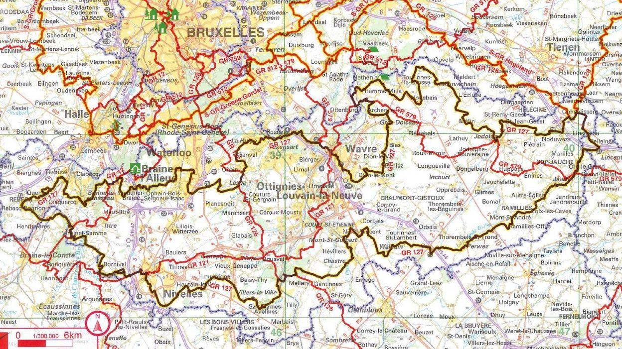 Une boucle de 266 kilomètres pour découvrir le Brabant wallon à pied