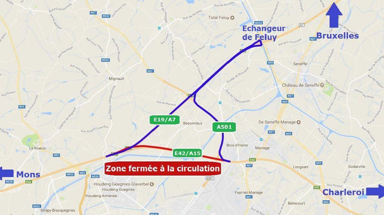L 39 autoroute e42 ferm e pendant neuf jours partir du 31 - Meteo la louviere ...