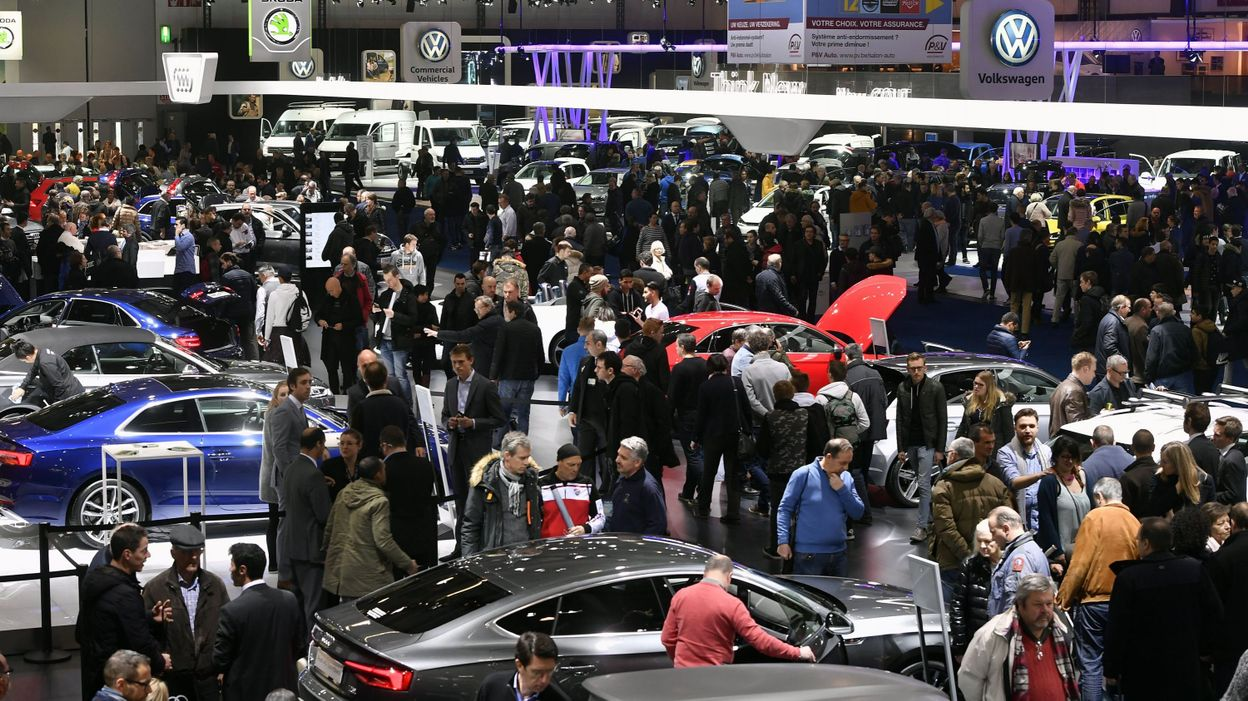 Bruxelles nouveau record d 39 affluence au salon de l 39 auto for Salon bruxelles